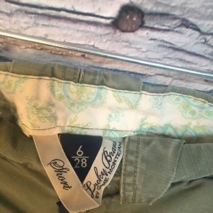 Lucky Brand Shorts - Lucky Brand Short Shorts. Olive Green. Size: 6